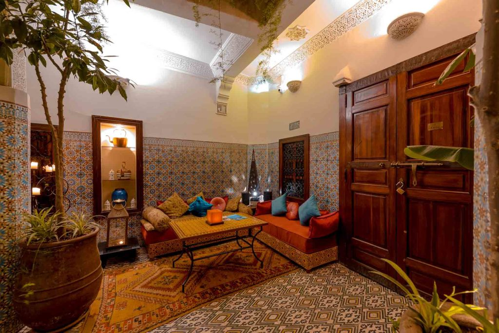 Riad Abelia Marrakech salon