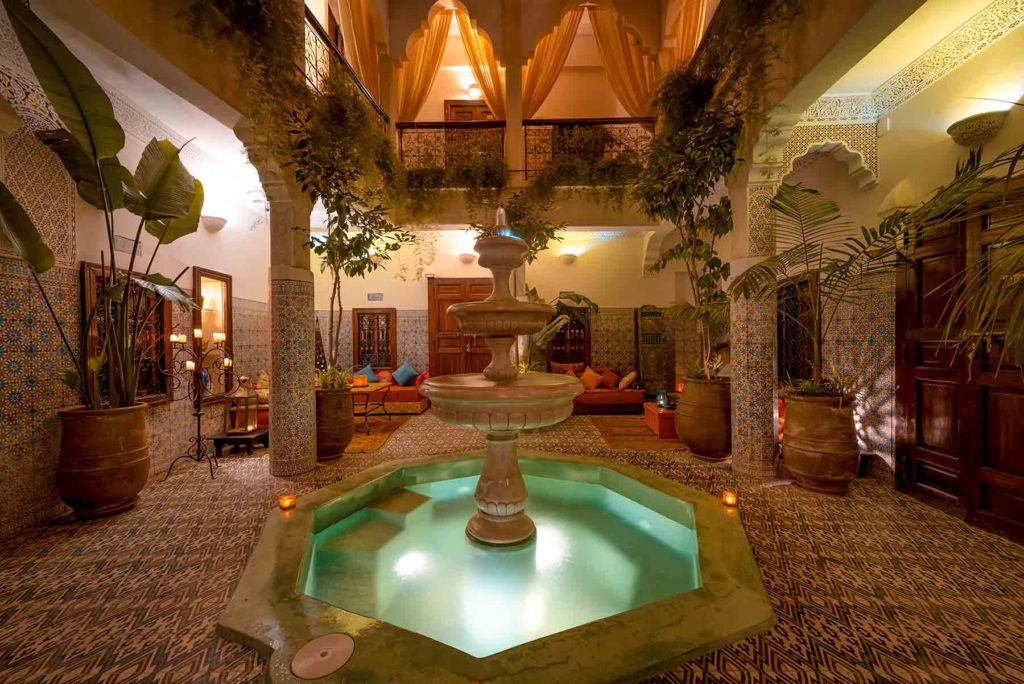 Riad Abelia Marrakech patio et bassin