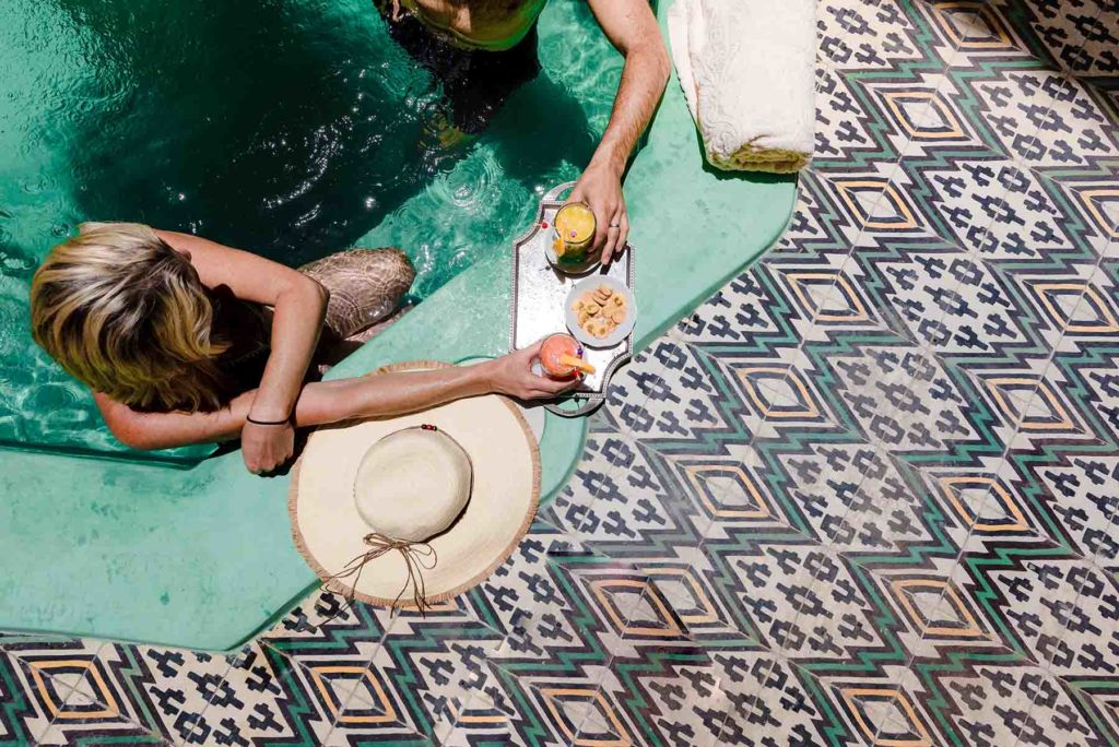 RIAD ABELIA MARRAKECH, basin patio piscine